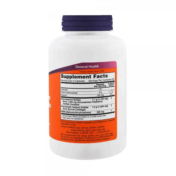 Glucosamine & Chondroitin with MSM, Now Foods, 180 caps 1