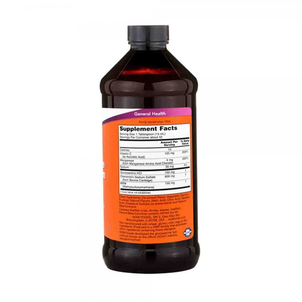 Glucosamine & Chondroitin with MSM Liquid, Now Foods, 473ml. 1