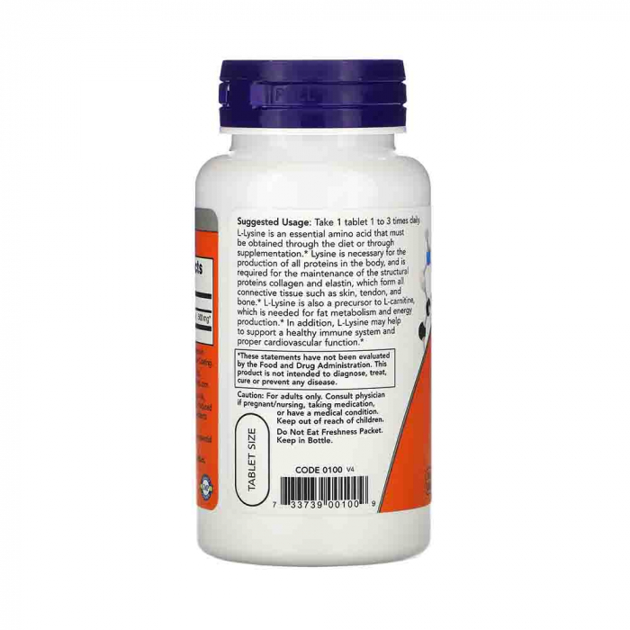 l-lysine-1000mg-now-foods 1