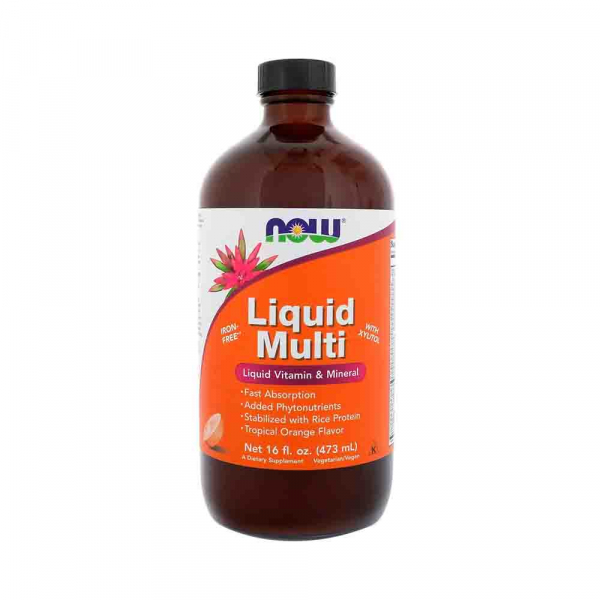 Now Foods, Liquid Multi, Tropical Orange Flavor, 16 fl oz (473 ml) 0