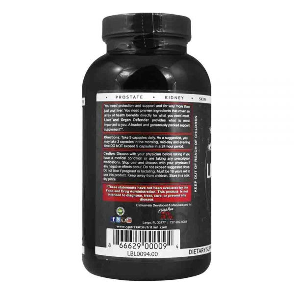 Liver & Organ Defender, Rich Piana Nutrition, 240 capsule 2