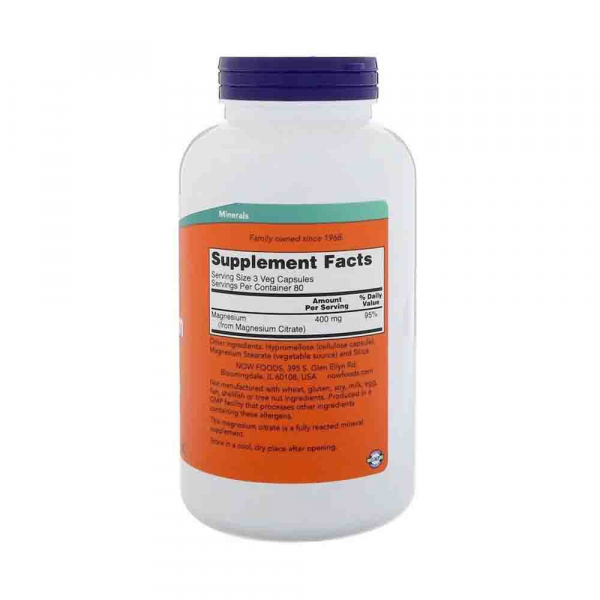 Magnesium Citrate 200mg, Now Foods, 240 caps/250 tabs 1