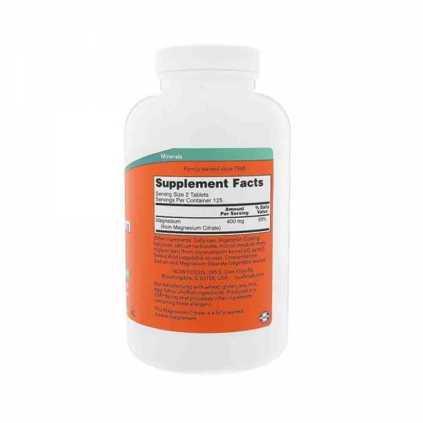 Magnesium Citrate 200mg, Now Foods 2
