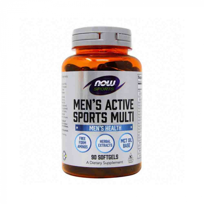 Now Foods, Sports, Men's Active Sports Multi, 180 Softgels 0