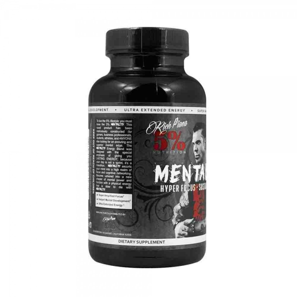 Mentality, Rich Piana Nutrition, 90 caps 1