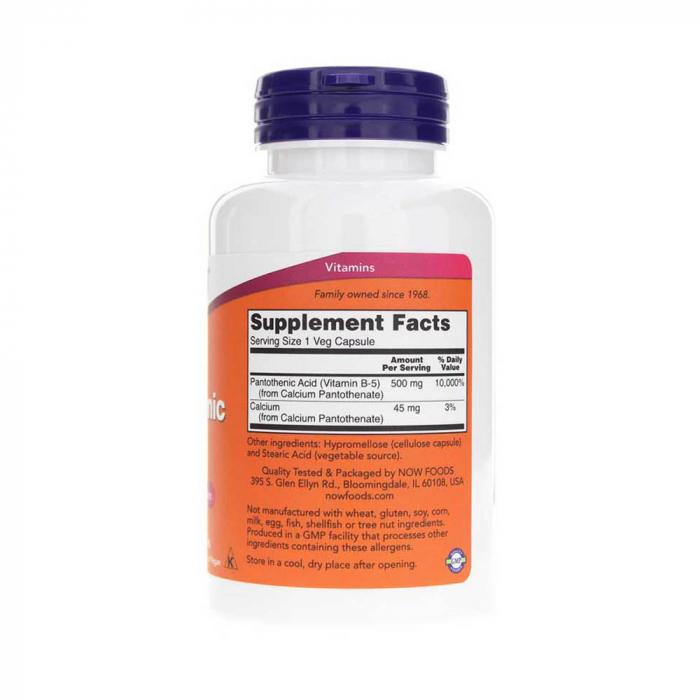 pantothenic-acid-now-foods 2