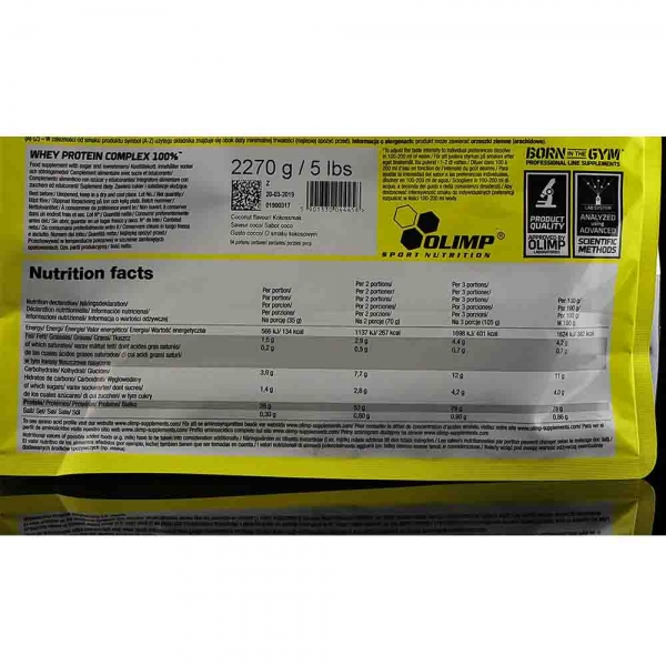 Whey Protein Complex 100%, Olimp nutrition, 2270g 2