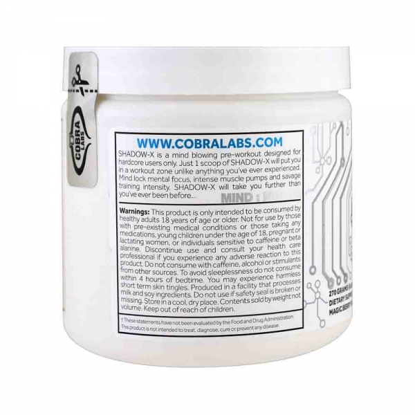 Shadow-X Pre-Workout, Cobra Labs, 270g 2