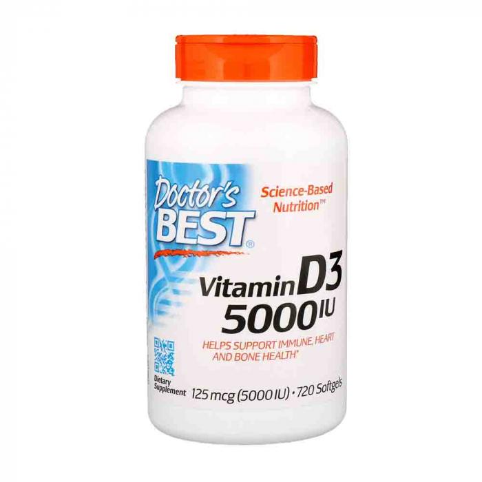 Vitamin D3, 5000 IU - 180 softgels 0