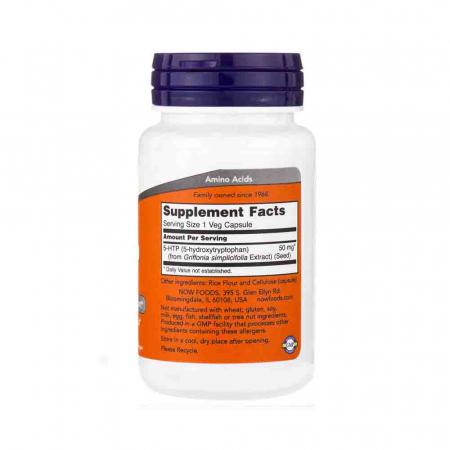 5-HTP, (Precursor Serotonina) , 50 mg ,Now Foods, 30 capsule2