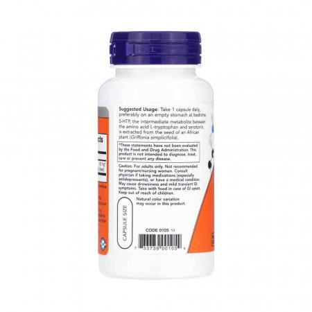 5-HTP, (Precursor Serotonina) Now Foods1