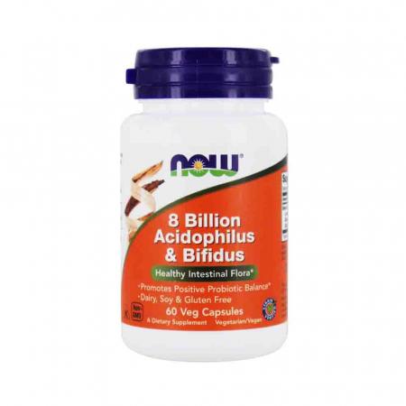 8 Billion Acidophilus & Bifidus, Now Foods, 60 capsule0