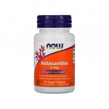 Astaxanthin, (Antioxidant) , 4 mg,Astaxantina Now Foods, 60 softgels0
