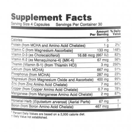 Bone Strength (Oase Puternice), Now Foods, 120 capsule3