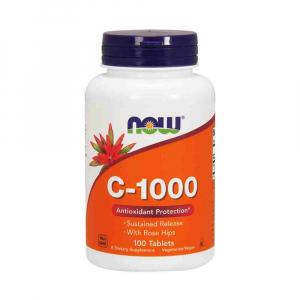 C-1000 Vitamina C, Now Foods, 100 tablete0