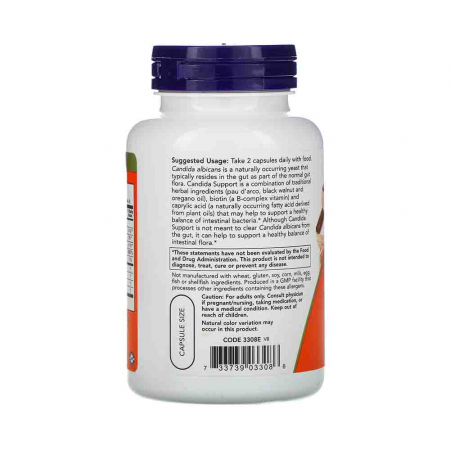 Candida Support, Now Foods, 90 capsule2