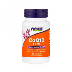 CoQ10 cu vitamina E, Now Foods, 50 softgels0