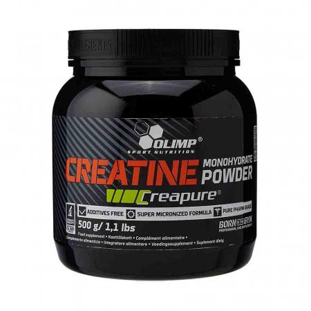Creatină monohidrată micronizată Creapure®, Olimp Nutrition, 500g
