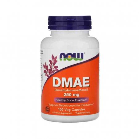 DMAE (Dimetiletanolamină), 250mg, Now Foods, 100 capsule0