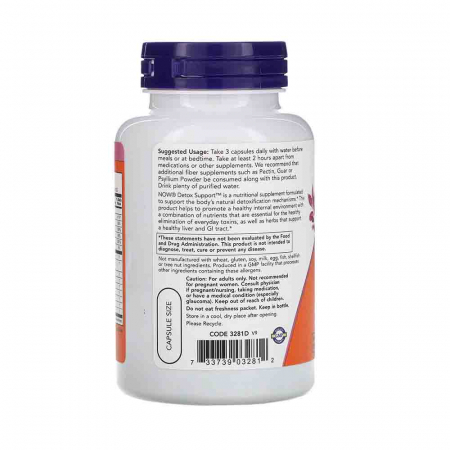 Detox Support (Detoxifiere), Now Foods, 90 capsule1
