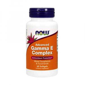 Advanced Gamma E Complex - Vitamina E, Now Foods, 60 softgels0