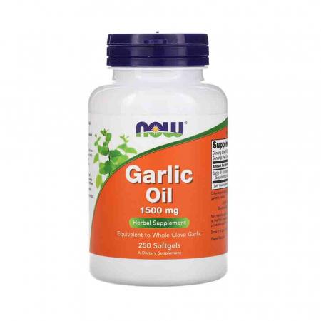 Garlic Oil (Ulei de Usturoi) 1500mg, Now Foods, 250 softgels0