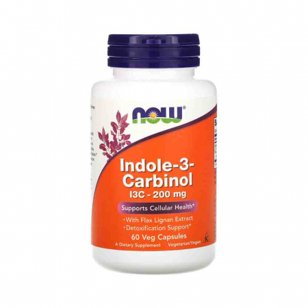 Indole-3-Carbinol (I3C) 200mg, Now Foods, 60 capsule0