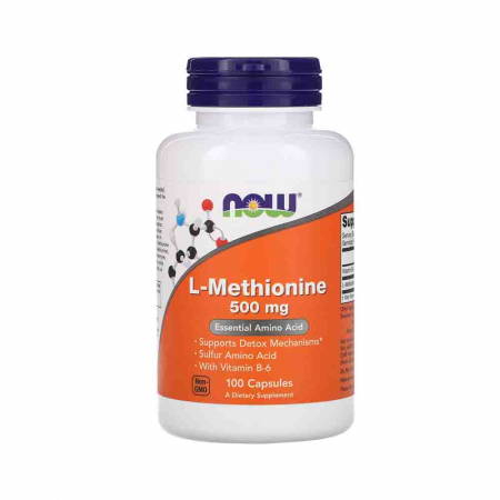 L-Methionine (L-Metionina) 500mg, Now Foods, 100 capsule0