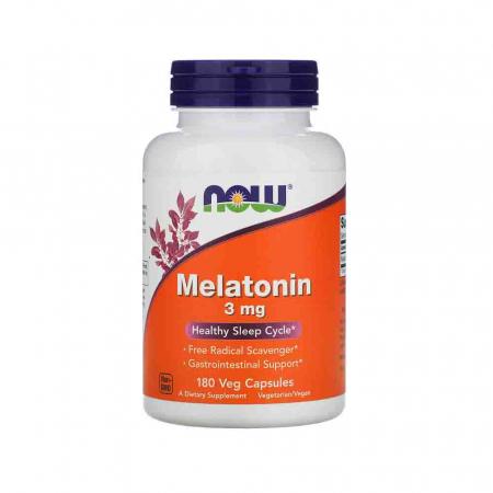 Melatonin (Melatonina) 3mg, Now Foods, 180 capsule0