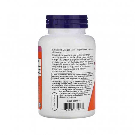 Melatonin (Melatonina) 3mg, Now Foods, 180 capsule1