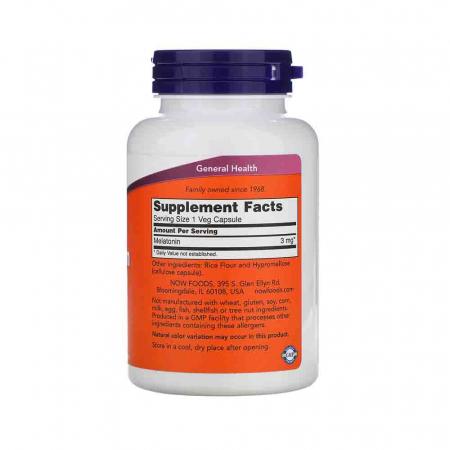 Melatonin (Melatonina) 3mg, Now Foods, 180 capsule2