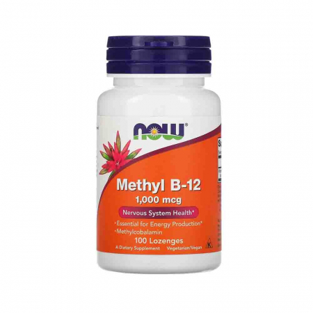 Methyl B-12 (vitamina B12) 1000mcg, Now Foods, 100 tablete masticabile0