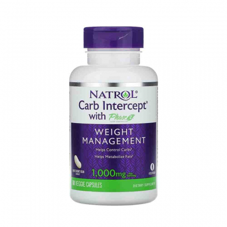 Carb Intercept with Phase 2 Carb Controller, 1000 mg, Natrol, 60 capsule0