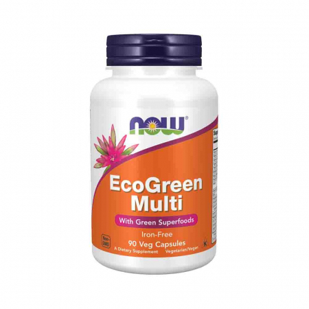 EcoGreen Multi, Iron-Free, Now Foods, 90 capsule0