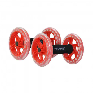 Manere cu roti pentru exercitii, Twin Core AB Wheel, Power System, Cod: 40650