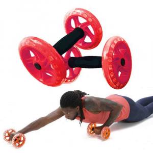 Manere cu roti pentru exercitii, Twin Core AB Wheel, Power System, Cod: 40655
