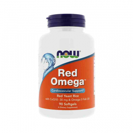 Red Omega (Red Yeast Rice), Drojdie rosie de orez, Now Foods, 90 softgels0