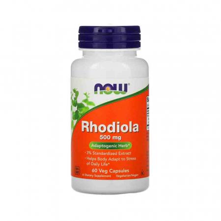 Rhodiola Rosea, 500mg, Now Foods, 60 capsule0