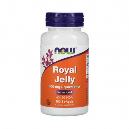 Royal Jelly (Laptisor de Matca), 300mg Now Foods, 100 softgels0