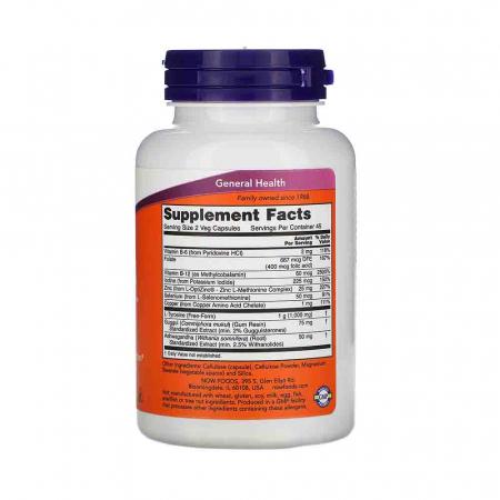 Thyroid Energy (Glanda Tiroida), Now Foods, 90 capsule2