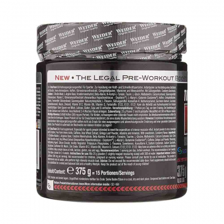Total Rush 2.0 Pre-Workout, Weider, 375g1