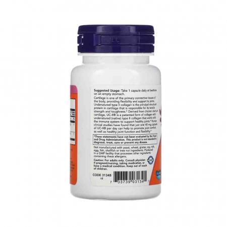 Collagen Type II,  UC-II Undenatured, Now Foods, 60 capsule1