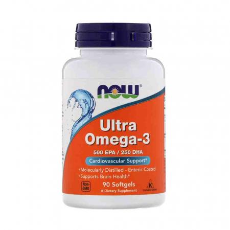 Ultra Omega-3, 500mg EPA / 250mg DHA, Now Foods, 90 softgels0
