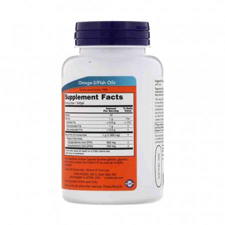 Ultra Omega-3, 500mg EPA / 250mg DHA, Now Foods, 90 softgels2