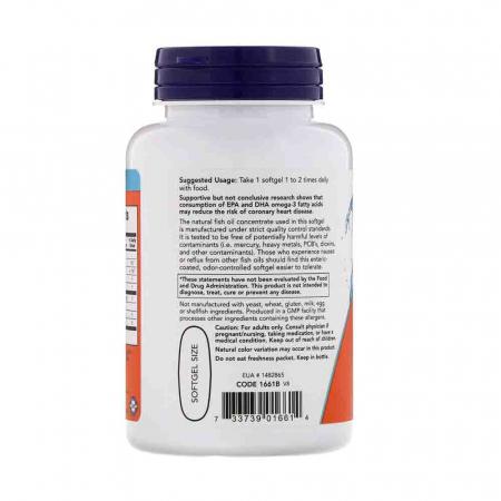 Ultra Omega-3, 500mg EPA / 250mg DHA, Now Foods, 90 softgels1