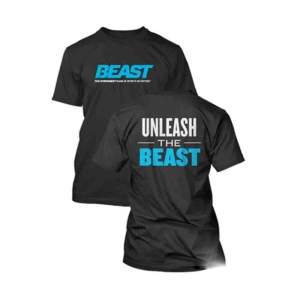 Tricou Unleash The Beast, Beast Sport Nutrition, Negru