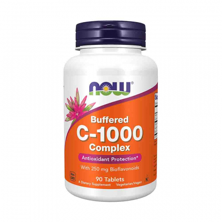 C-1000 Vitamina C Buffered (Tamponata) cu Bioflavonoide 250mg, Now Foods0