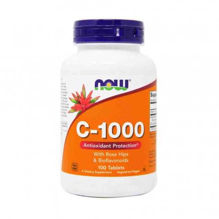C-1000 Vitamina C with Rose Hips & Bioflavonoids, Now Foods0