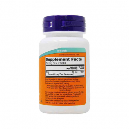 Zinc (Mineral), 50mg, Now Foods, 100 tablete2