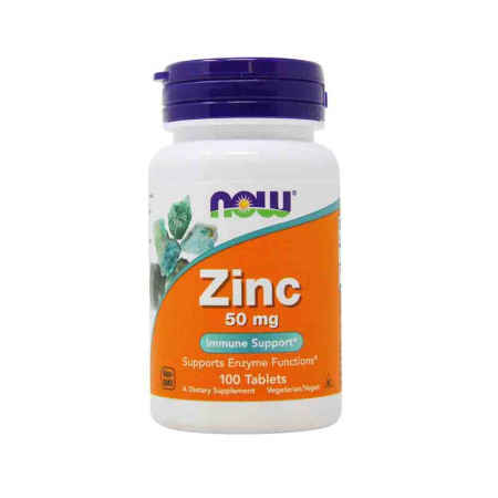 Zinc (Mineral), 50mg, Now Foods, 100 tablete0